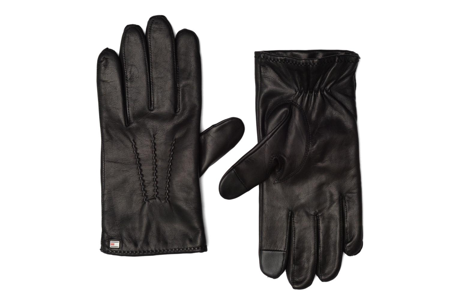 Divers Tommy Hilfiger Basic Leather gloves Noir vue détail/paire