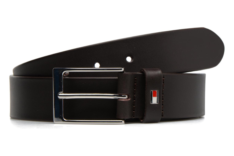 Ceintures Tommy Hilfiger Layton Leather Belt 35mm Marron vue détail/paire