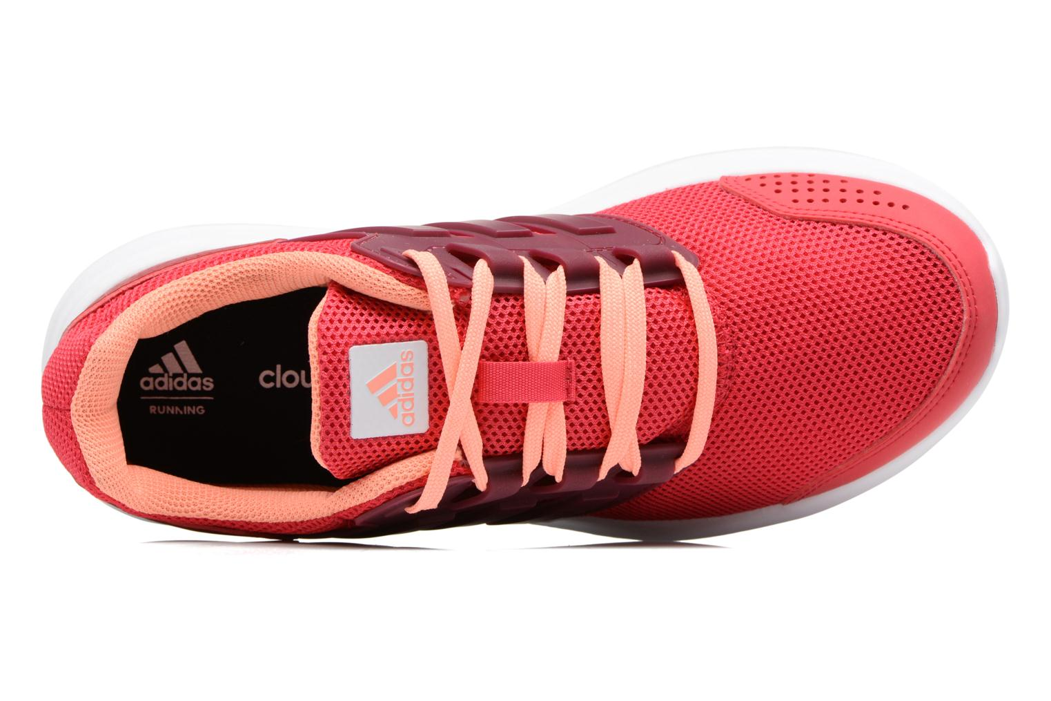 Sport shoes Adidas Performance Galaxy 4 W Red view from the left