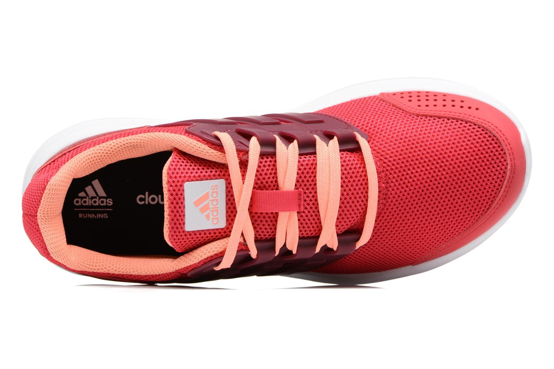Chaussures de sport Adidas Performance Galaxy 4 W Rouge vue gauche