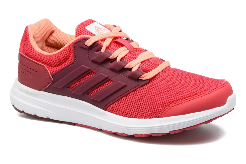 Chaussures de sport Adidas Performance Galaxy 4 W Rouge vue détail/paire