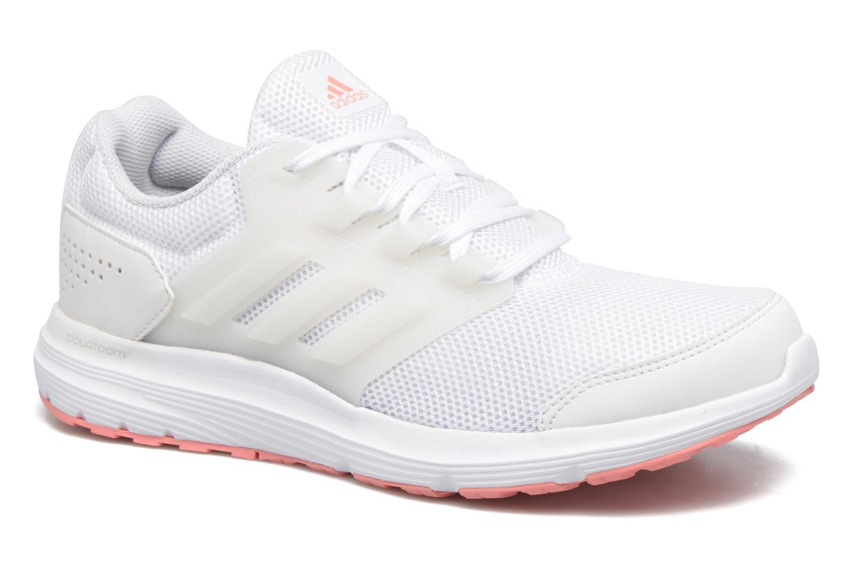 Chaussures de sport Adidas Performance Galaxy 4 W Blanc vue détail/paire