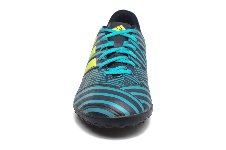 Chaussures de sport Adidas Performance Nemeziz 17.4 Tf Bleu vue portées chaussures