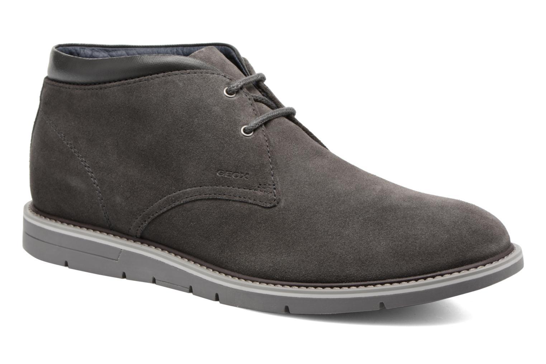 Chaussures à lacets Geox U Uvet B U742QB Gris vue détail/paire