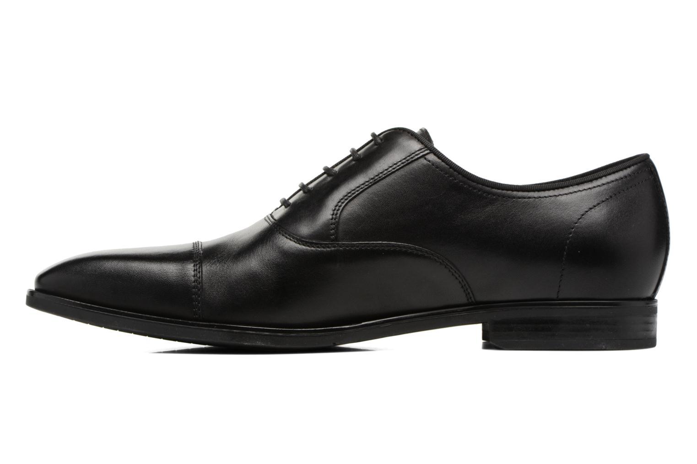 Chaussures à lacets Geox U New Life E U74P4E Noir vue face