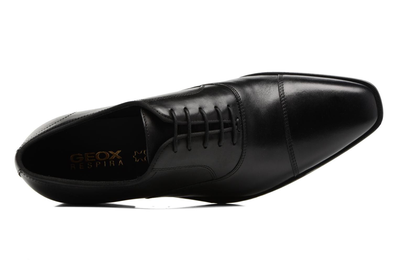 Chaussures à lacets Geox U New Life E U74P4E Noir vue gauche