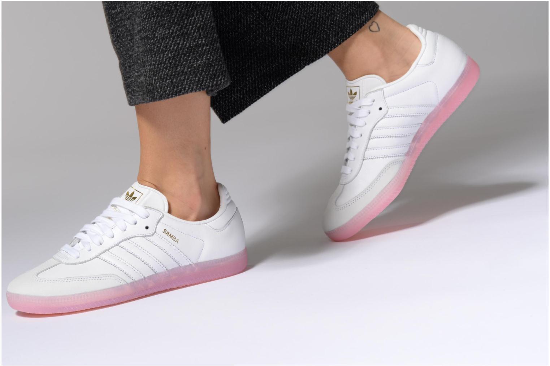 Baskets Adidas Originals Samba W Rose vue bas / vue portée sac