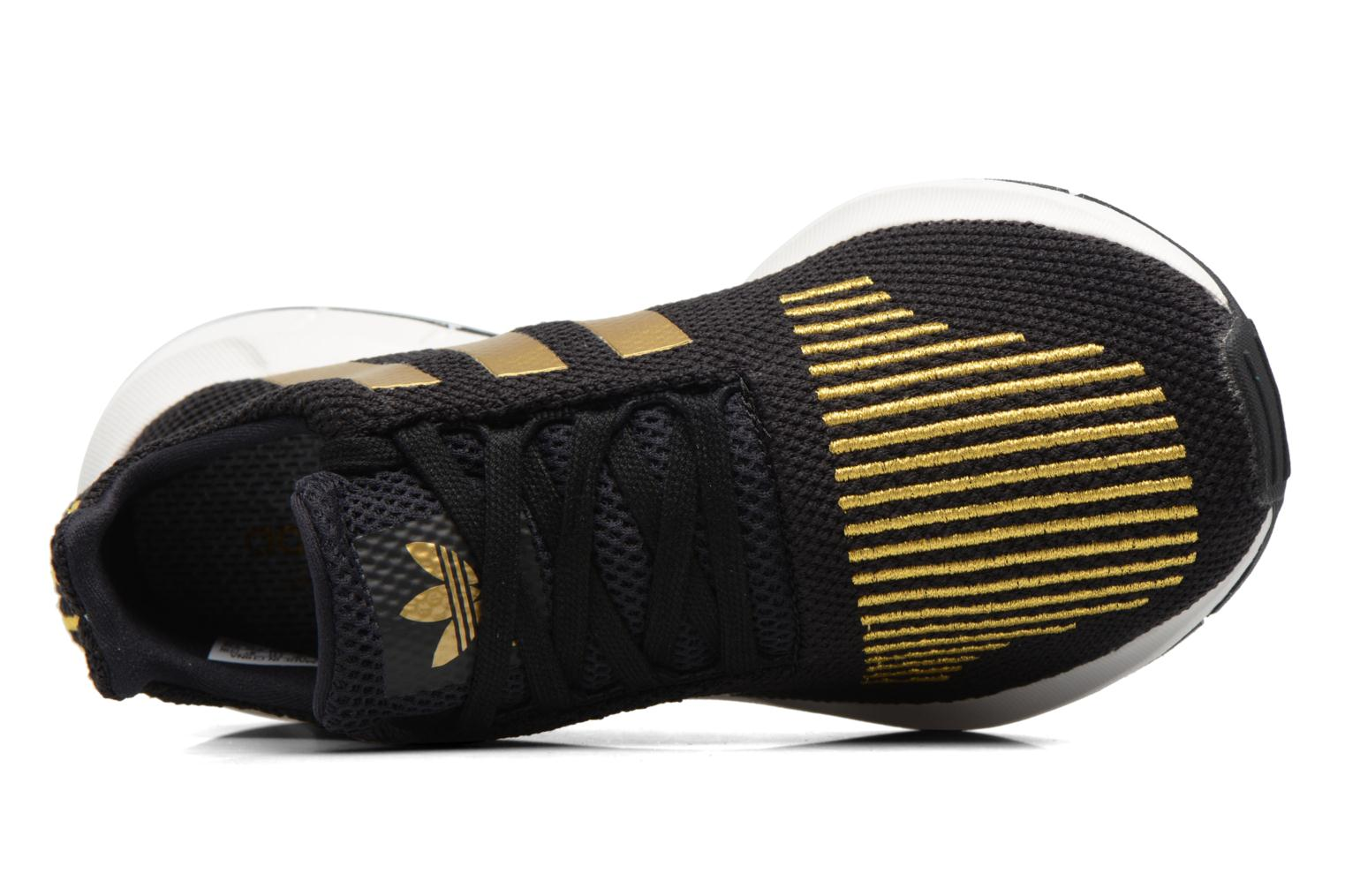 Trainers Adidas Originals Swift Run W Bronze and Gold view from the left