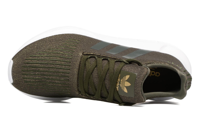 Baskets Adidas Originals Swift Run W Vert vue gauche