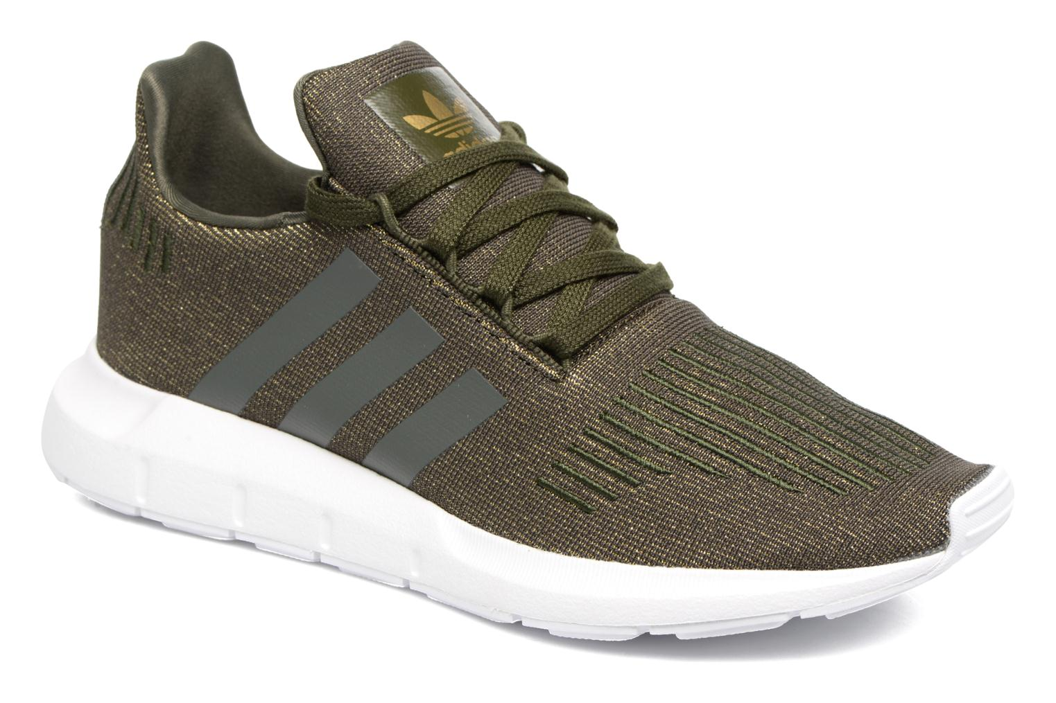 Baskets Adidas Originals Swift Run W Vert vue détail/paire
