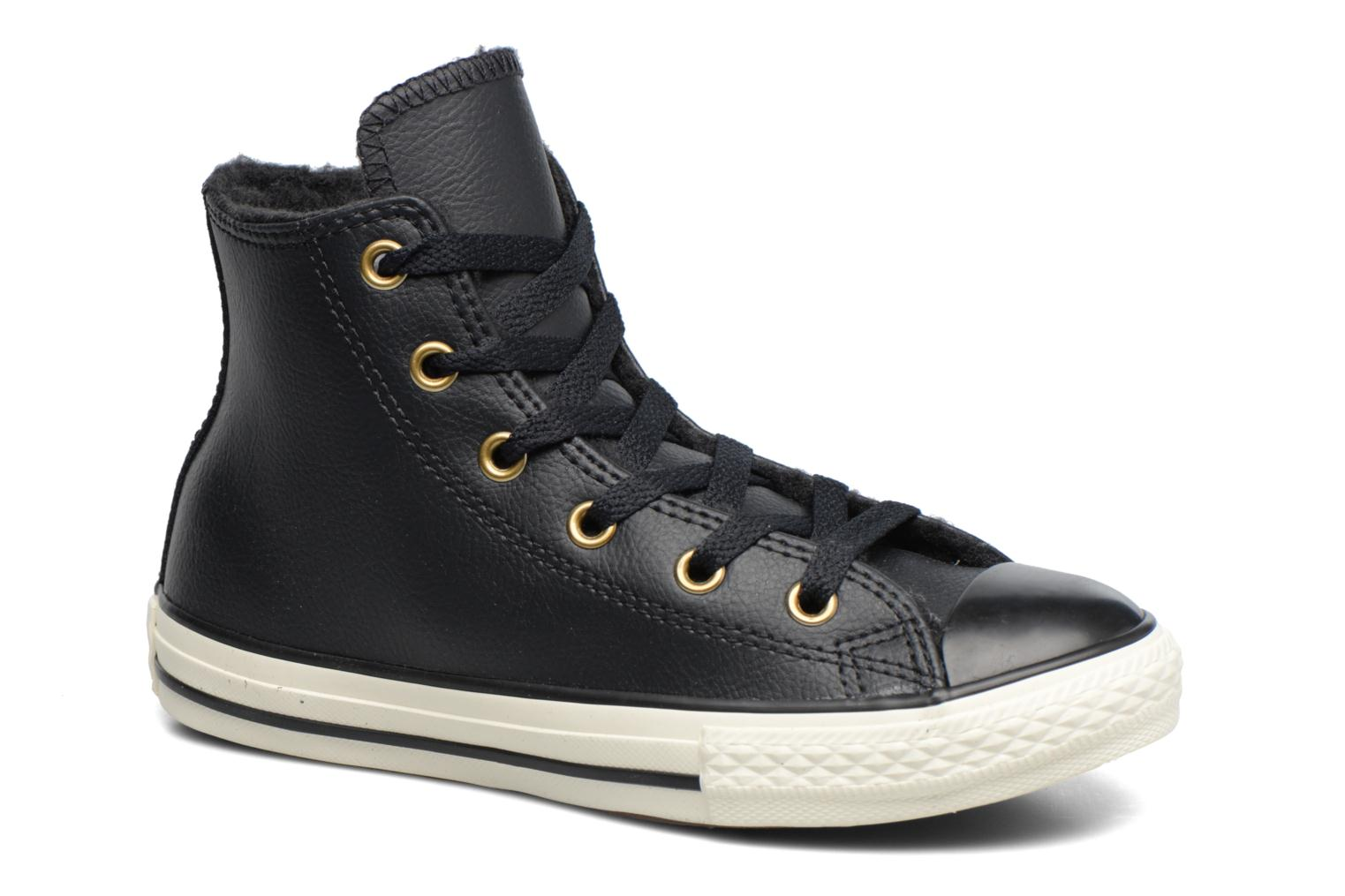 Baskets Converse Chuck Taylor All Star Leather  Hi Noir vue détail/paire