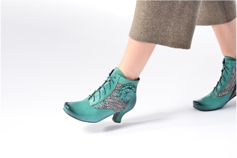 Bottines et boots Laura Vita Candice 03 Vert vue bas / vue portée sac