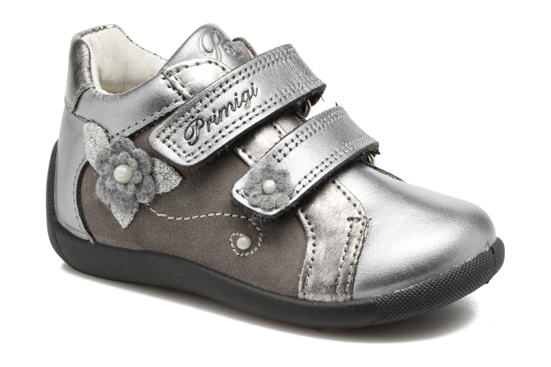 Velcro shoes Primigi Gabelica Silver detailed view/ Pair view