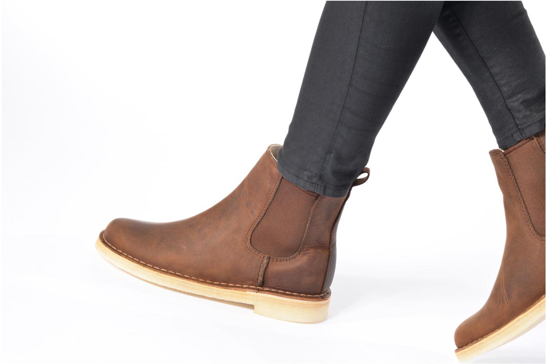 Stiefeletten & Boots Clarks Originals DESERT PEAK W schwarz ansicht von unten / tasche getragen