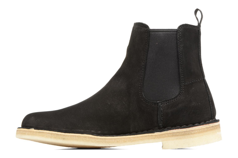 Boots en enkellaarsjes Clarks Originals DESERT PEAK W Zwart voorkant