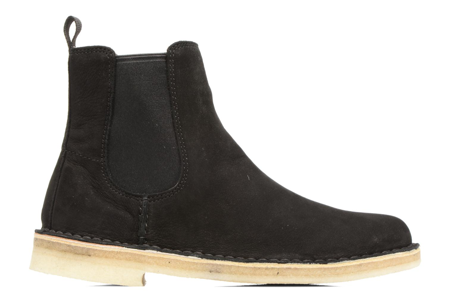 Ankle boots Clarks Originals DESERT PEAK W Black back view