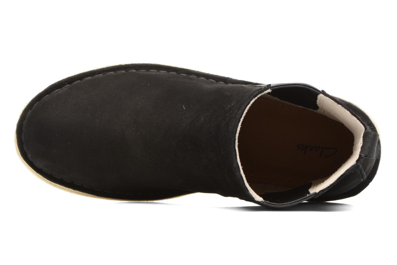 Bottines et boots Clarks Originals DESERT PEAK W Noir vue gauche
