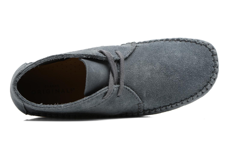 Stiefeletten & Boots Clarks Originals WEAVER BOOT W blau ansicht von links