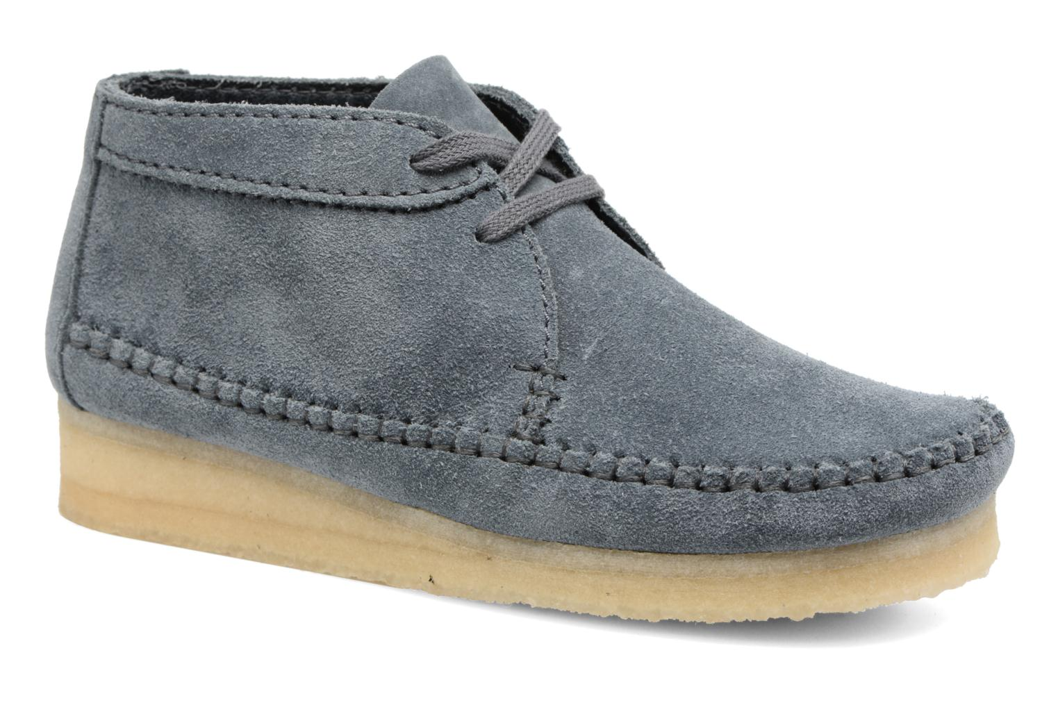 Ankle boots Clarks Originals WEAVER BOOT W Blue detailed view/ Pair view
