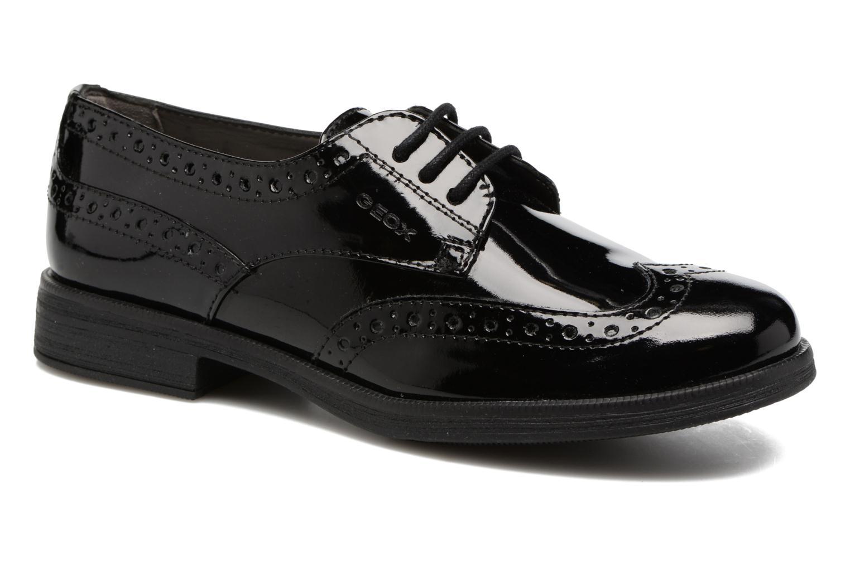Chaussures à lacets Geox J Agata C J3449C Noir vue détail/paire