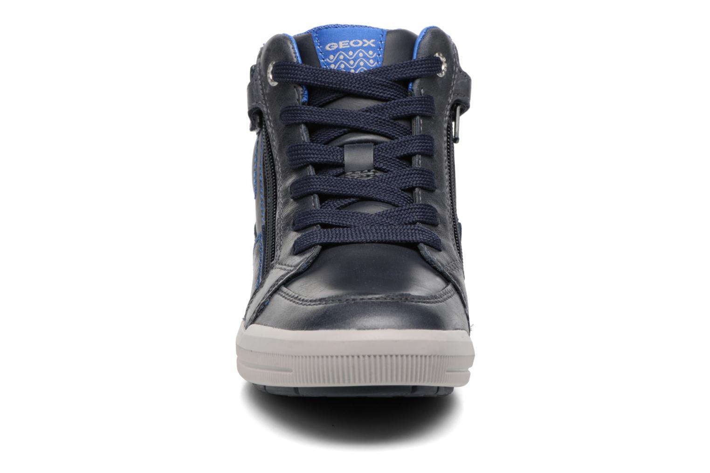 Baskets Geox J Arzach B. F  J744AF Bleu vue portées chaussures