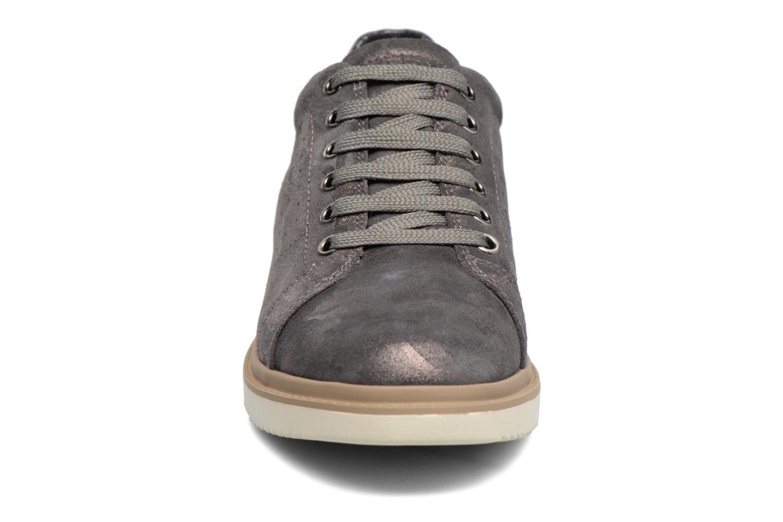Baskets Geox J Thymar G. A  J744FA Or et bronze vue portées chaussures