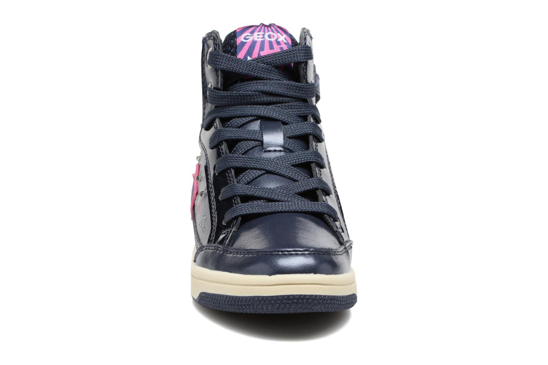 Baskets Geox J Creamy A  J74L5A Bleu vue portées chaussures