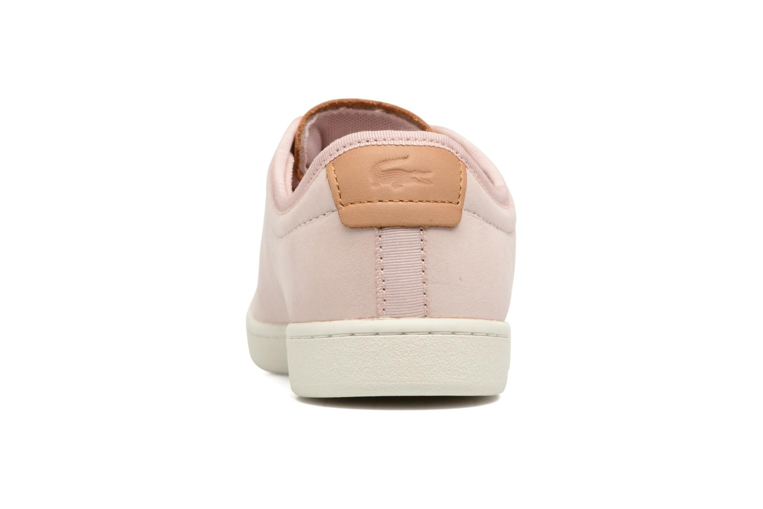 Baskets Lacoste CARNABY EVO 317 8 Rose vue droite