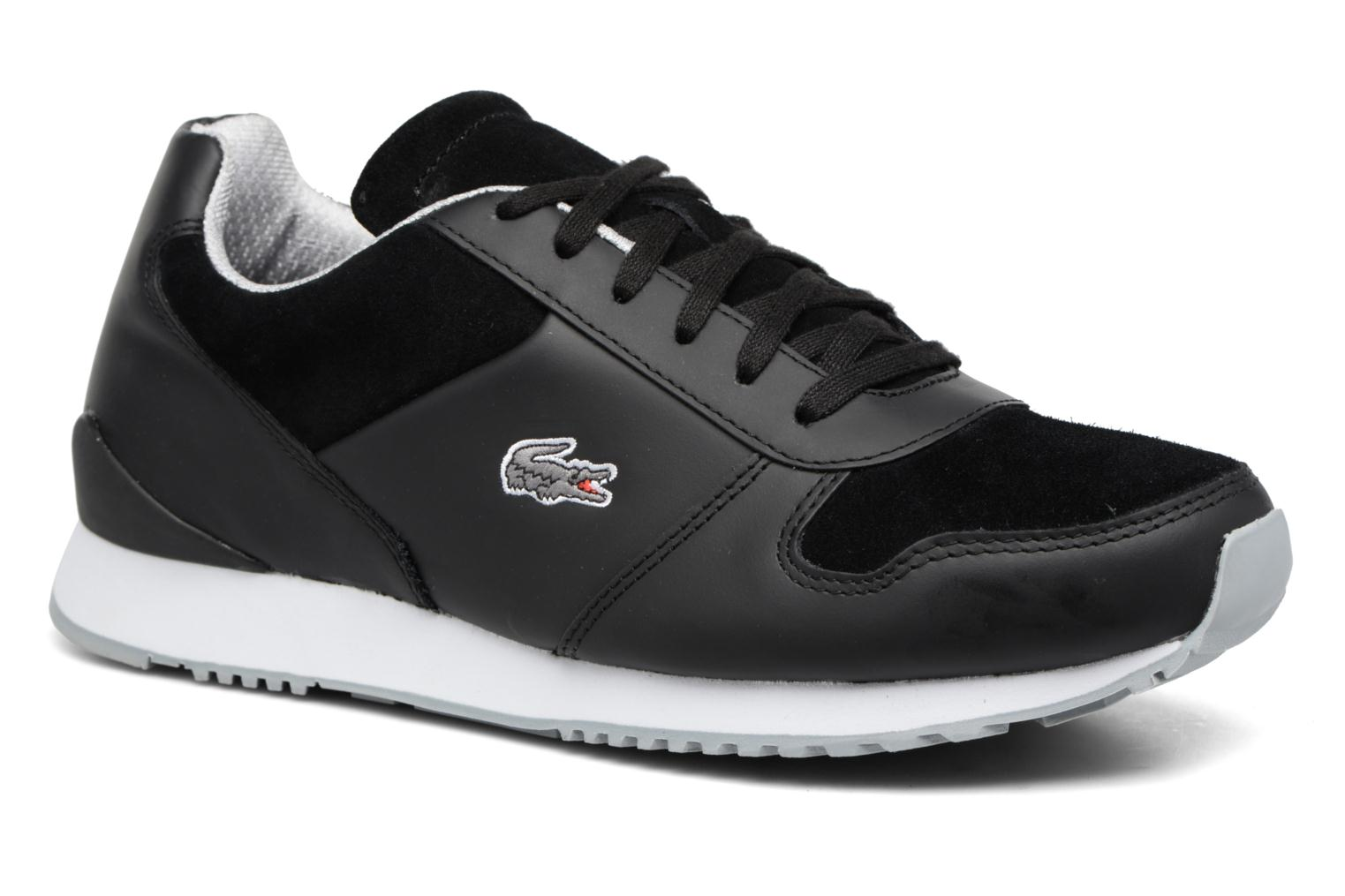 Trainers Lacoste TRAJET 417 3 Black detailed view/ Pair view