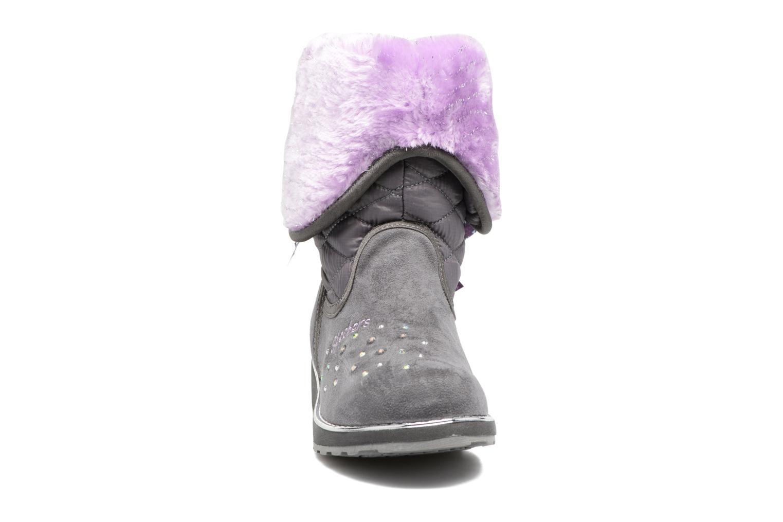 Bottes Skechers Sparkle Spell Fold n Fab Gris vue portées chaussures