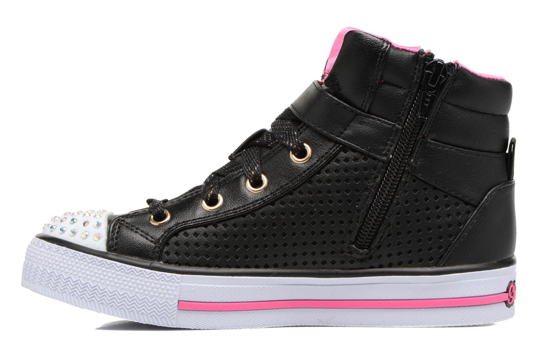 Baskets Skechers Shuffles Pop Dazzle Noir vue face