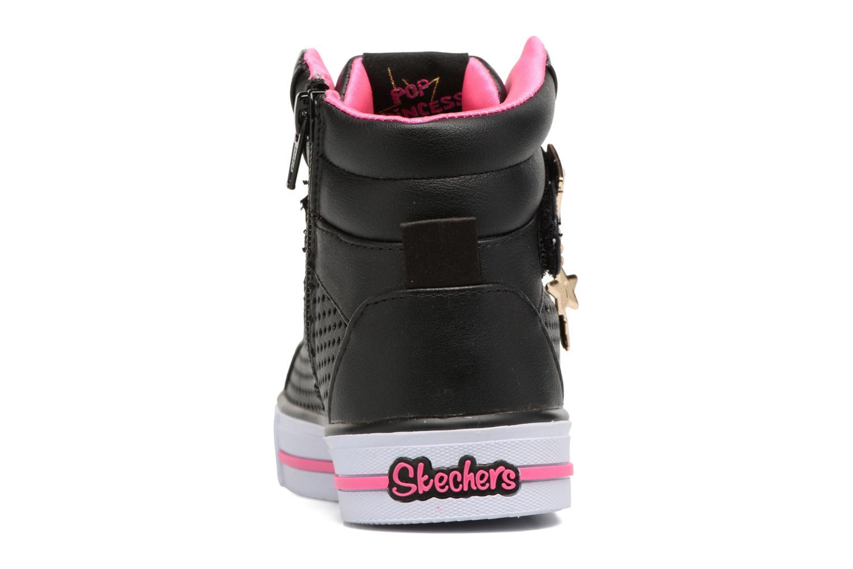 Baskets Skechers Shuffles Pop Dazzle Noir vue droite