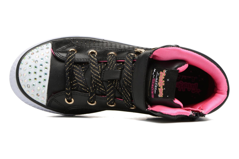 Baskets Skechers Shuffles Pop Dazzle Noir vue gauche