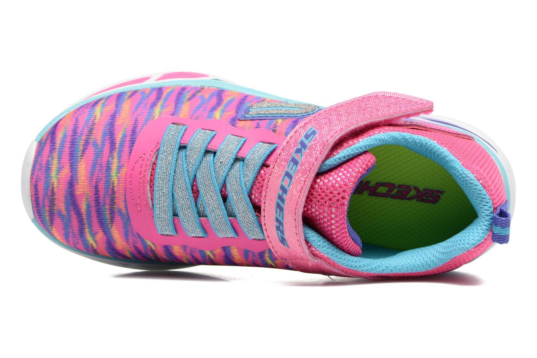 Baskets Skechers Litebeams Colorburst Rose vue gauche