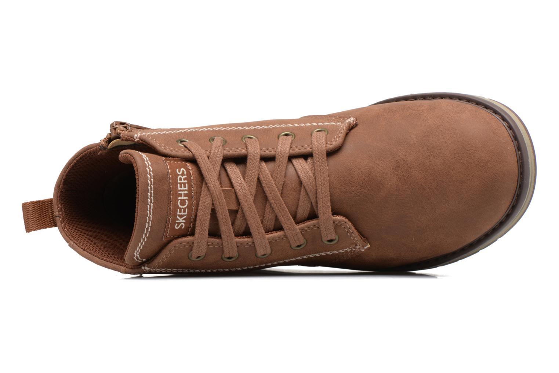 Bottines et boots Skechers Gravlen Marron vue gauche
