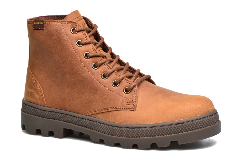 Bottines et boots Palladium Pallabosse Mid Marron vue détail/paire