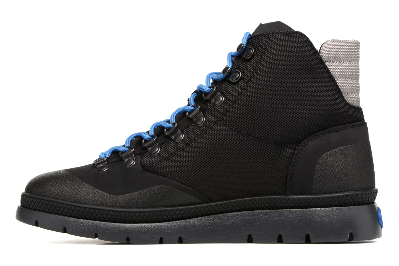 Boots en enkellaarsjes Palladium Pallasider HIKR Mid Zwart voorkant