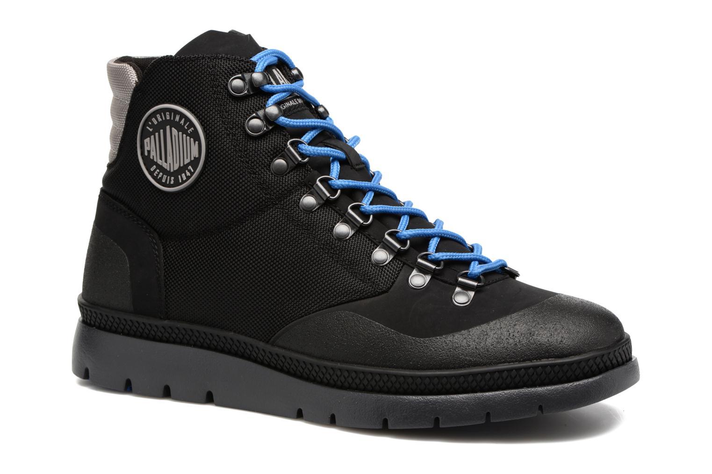 Bottines et boots Palladium Pallasider HIKR Mid Noir vue détail/paire