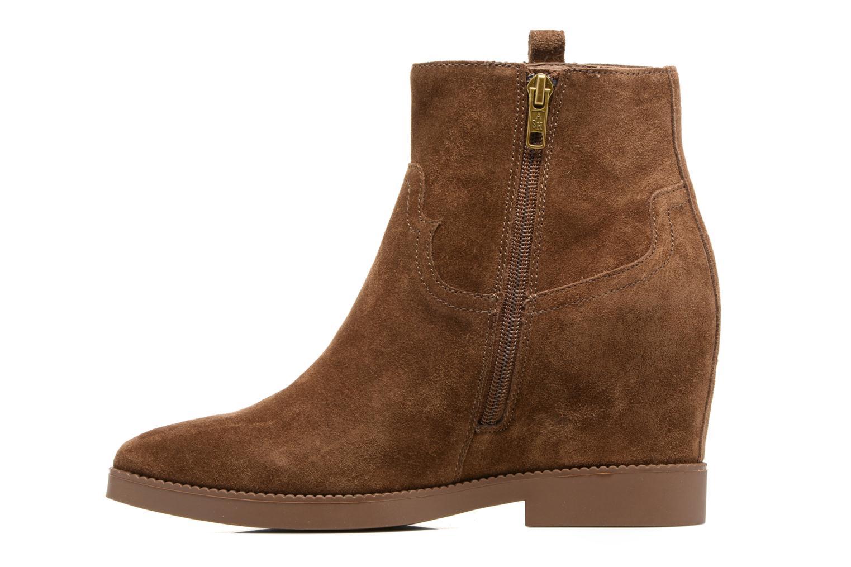 Bottines et boots Ash Goldie Marron vue face