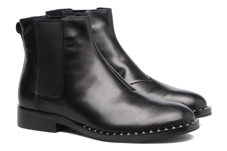 Bottines et boots Ash Wino Noir vue 3/4