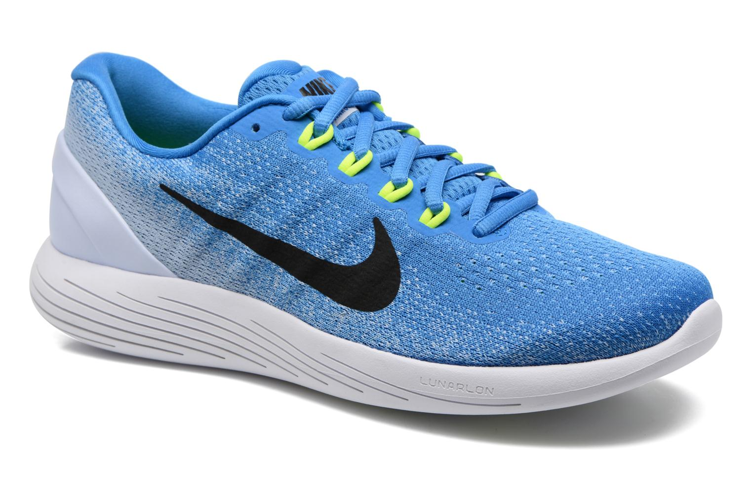 Sport shoes Nike Nike Lunarglide 9 Blue detailed view/ Pair view
