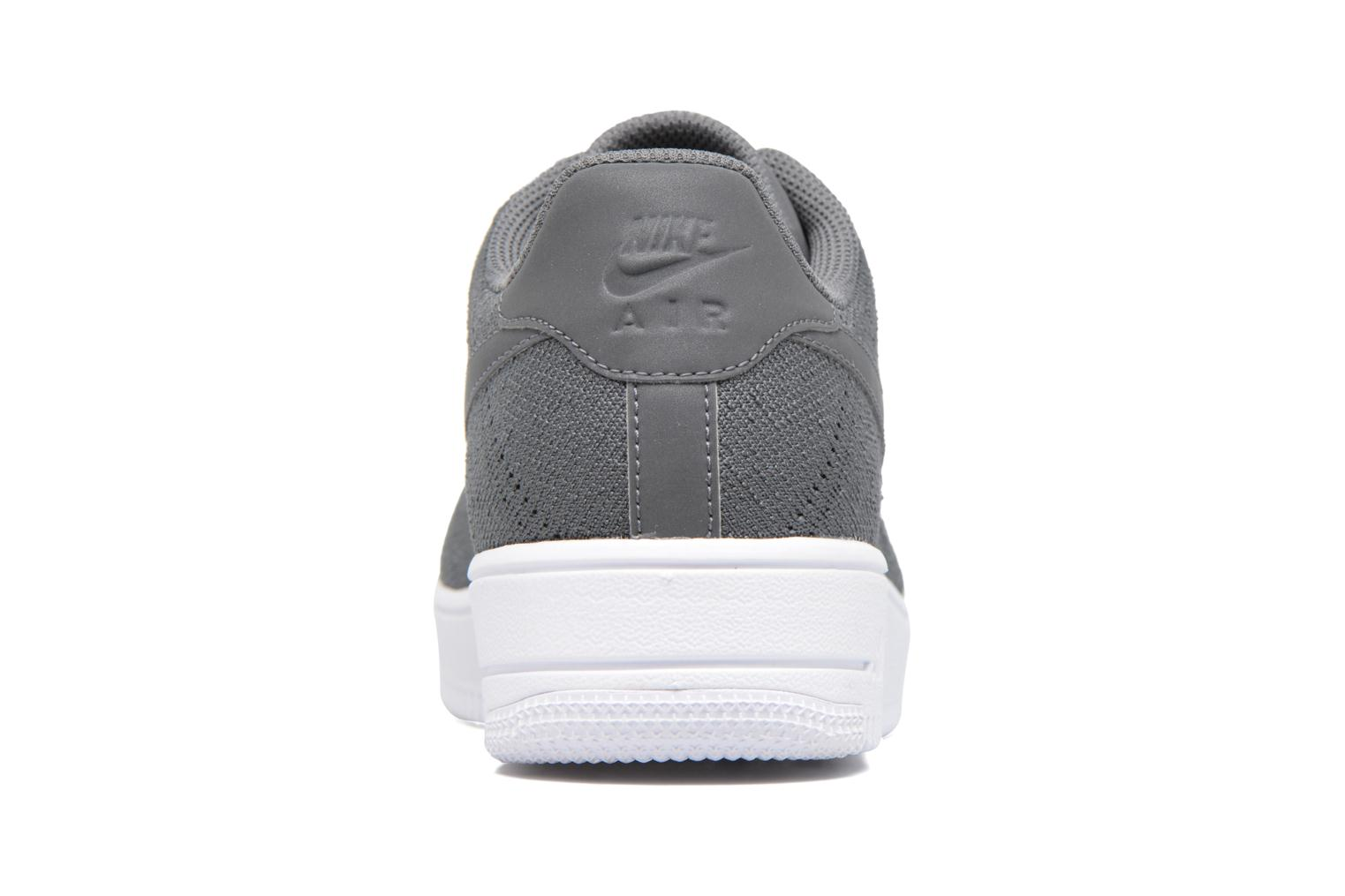 Baskets Nike Af1 Ultra Flyknit Low Gris vue droite