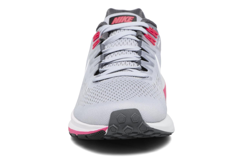 W Nike Air Zoom Structure 21 Dark Grey/White-Wolf Grey-Hot Punch