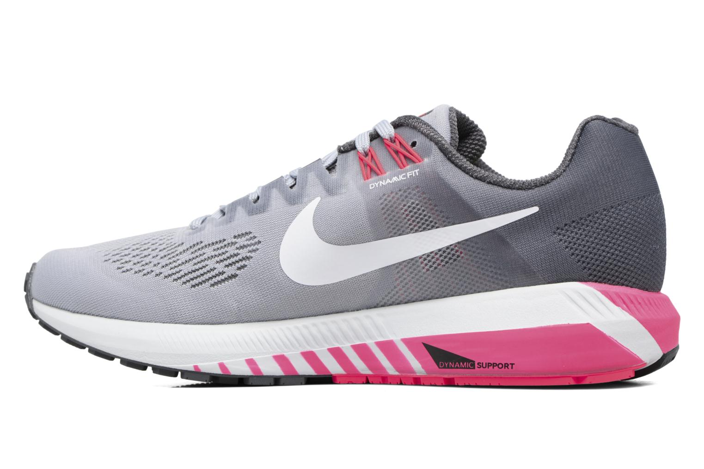 Chaussures de sport Nike W Nike Air Zoom Structure 21 Gris vue face