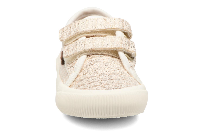 Baskets Faguo Birch Velcro Or et bronze vue portées chaussures