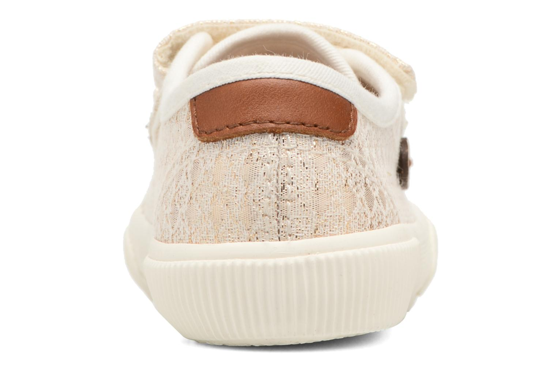 Baskets Faguo Birch Velcro Or et bronze vue droite