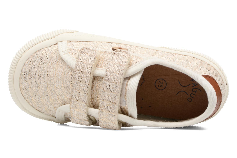 Baskets Faguo Birch Velcro Or et bronze vue gauche