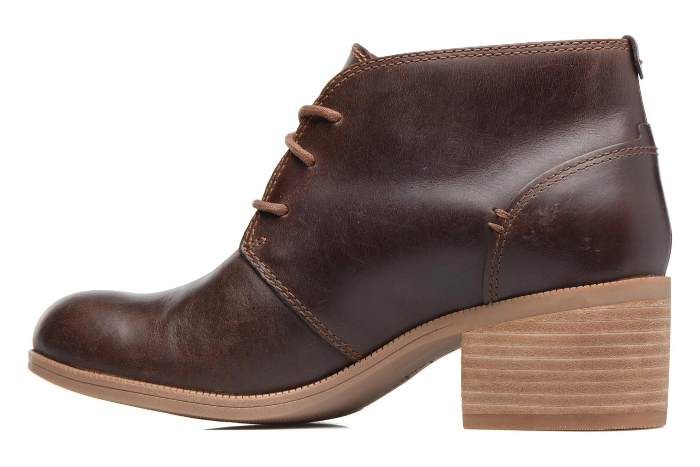 Chaussures à lacets Clarks Maypearl Flora Marron vue face