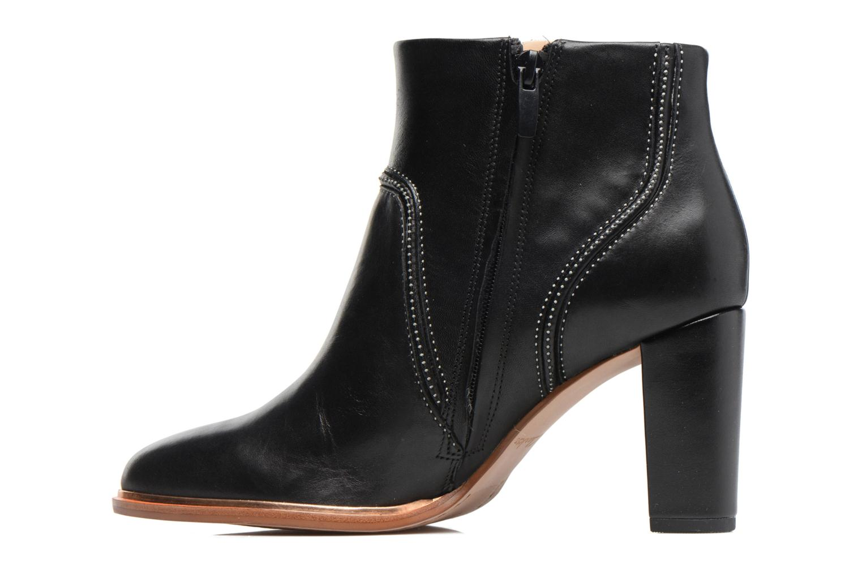 Bottines et boots Clarks Ellis Betty Noir vue face