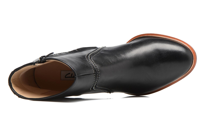 Bottines et boots Clarks Ellis Betty Noir vue gauche